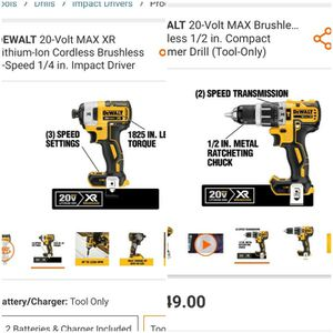 Dewalt XR 20V Max Hammer Drill and Impact Driver for Sale in South Jordan, UT