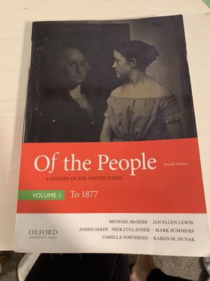Of the people textbook for Sale in Santa Clarita, CA
