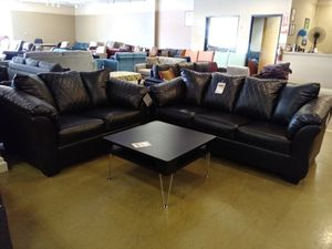 Black Bonded Leather Sofa & Loveseat for Sale in Phoenix, AZ