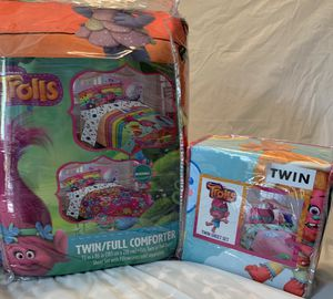 Bundle of Trolls Comforter and Sheet Set for Sale in Unionville, NC