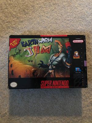 Earthworm Jim CIB Super Nintendo for Sale in Hoffman Estates, IL