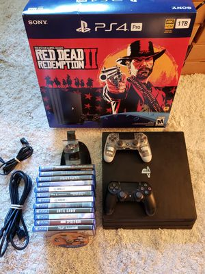 PS4 Pro +13 Games + 2 Controllers - Bundle - 4K 1TB - Excellent Condition for Sale in Old Westbury, NY