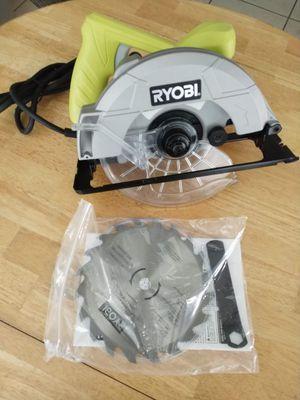 ryobi 7-1/4 circular saw Factory reconditioned Includes blade HABLO ESPAÑOL for Sale in Fort Lauderdale, FL