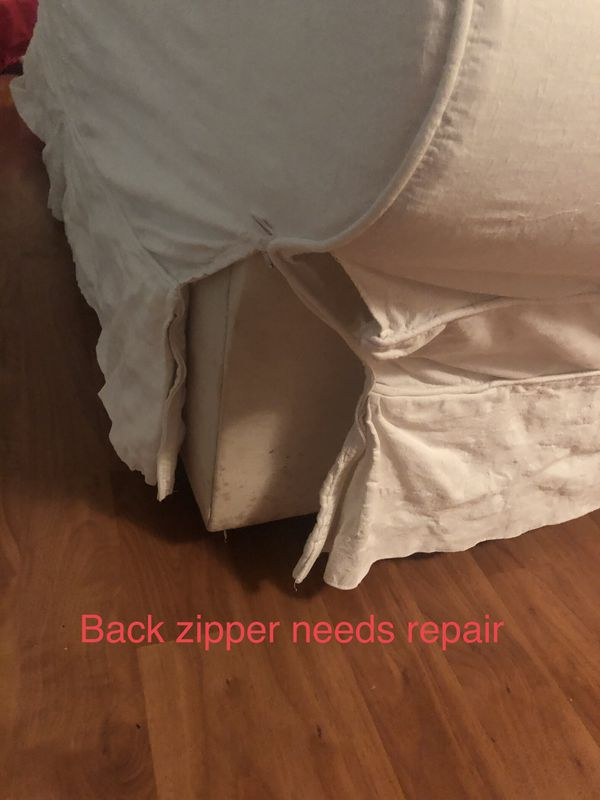 Slip Cover Couch, Loveseat