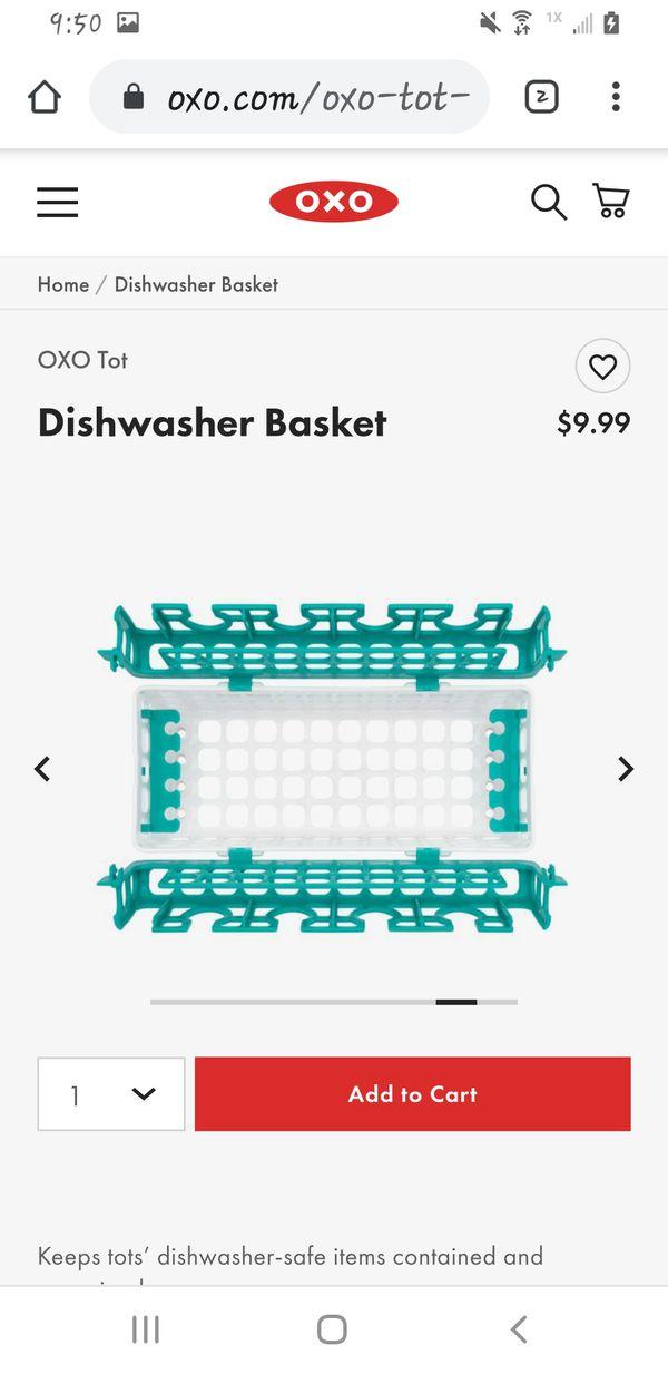 Bottle nipples etc. dishwasher basket