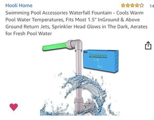 """Swimming Pool Waterfall Fountain fits standard 1.5"""" return jets New in Box - Only have 1 - Amazon price $30.00 for Sale in Lewisville, TX"""
