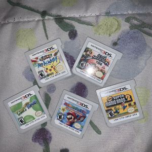 Nintendo 3DS Games (NSMB2, Mario Party Island Tour, New Yoshi's Island, SSB3DS, Pokémon Art Academy) for Sale in Houston, TX