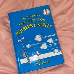 Dr. Seuss DISCONTINED BOOK: And to Think That I Saw it on Mulberry Street for Sale in Anaheim,  CA