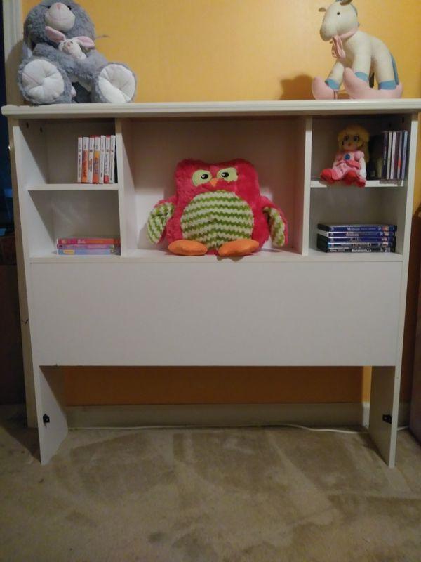 Twin Bookcase Headboard White
