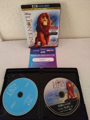 The Lion King 4K Ultra HD + Blu-Ray for Sale in Las Vegas, NV