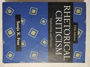 Rhetorical Criticism: Exploration and Practice, Fifth Edition for Sale in Clovis, CA