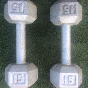 50 pounds Total Dumbell Weight Set 2x10 2x15 ( 2 Pairs) Hexagonal Cardio Gym Weights for Sale in Seattle, WA