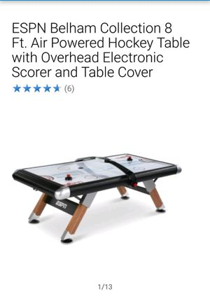 ESPN Belham Collection 8 ft Air Hockey Table. Brand new in box. for Sale in Elizabeth, NJ