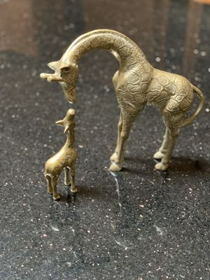 Brass antique giraffe and baby for Sale in Port Charlotte, FL