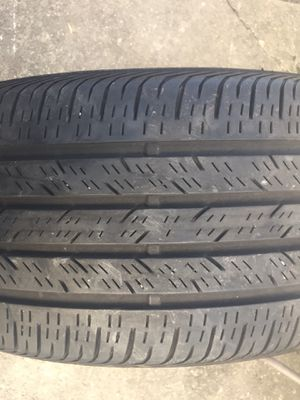 Tires size 18 235 /40/18 like new no longer have the car wish to sale 60 set of 2 for Sale in Cincinnati, OH