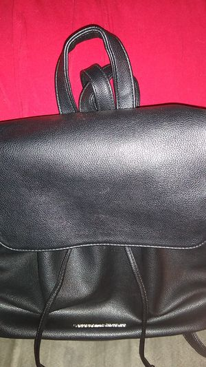 Black Victoria's Secret Faux Leather Drawstring Backpack for Sale in Oshkosh, WI