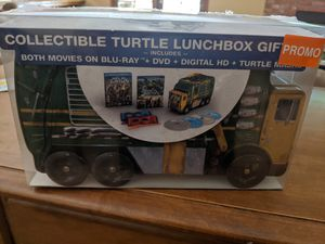 TMNT Lunchbox Blu Ray DVD digital and Masks for Sale in Visalia, CA