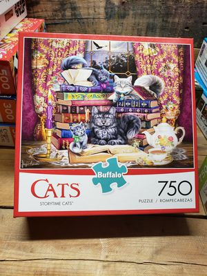 "Buffalo Games ""Storytime Cats"" 750 pc puzzle for Sale in Indianapolis, IN"