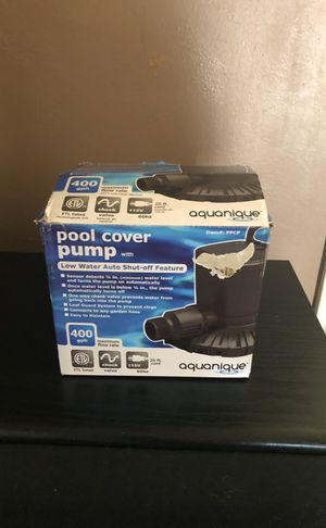 AQUANIQUE pool cover pump, sump pump, water removal for Sale in Cleveland, OH