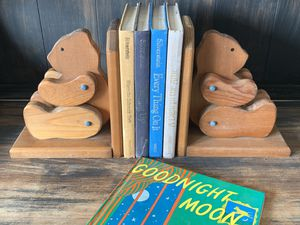 Cute vintage wood teddy bear bookends for Sale in San Diego, CA