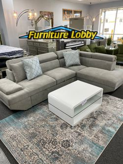 NEW Sectional Sleeper with adjustable Head rests PU for Sale in Irving,  TX