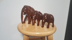 Hand carved wooden elephant for Sale in Clifton, VA