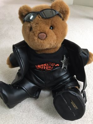 Harley Davidson - Build-a-bear with sheriff badge and leather gear for Sale in Gainesville, VA