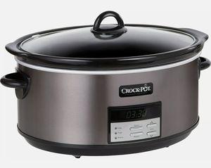 Crock-Pot - 8-Quart Slow Cooker - Black Stainless for Sale in Clovis, CA