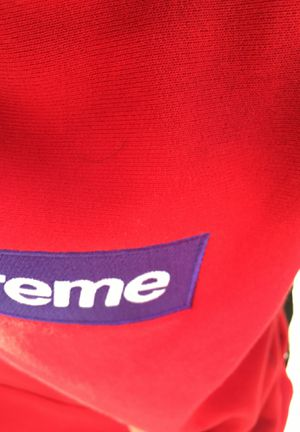 Supreme red on purple box logo hoodie size small for Sale in Miami, FL