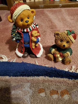 2 New Super Cute Christmas Bear Figurines both for 15.00 dollars for Sale in Las Vegas, NV