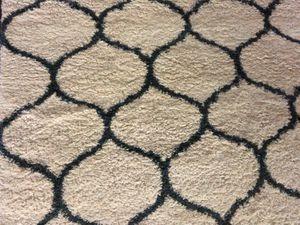 Shag area rug (Ivory & Slate blue) for Sale in Franklin, TN