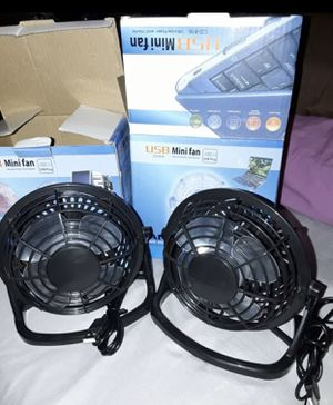 2 USB mini fans for Sale in Los Angeles, CA