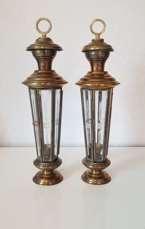 Pair of vintage brass lanterns for Sale in Newberg, OR