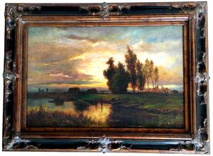 "HUGE ORIGINAL OIL PAINTING, 47""x35"" OFFERS WELCOME, Signed, Museum Frame for Sale in Mount Laurel Township, NJ"