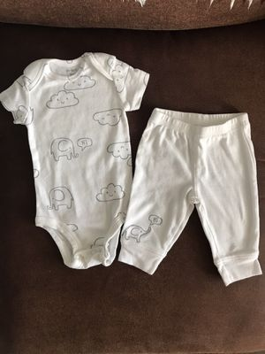 Carters Elephant Onesie Pant Set for Sale in Chandler, AZ