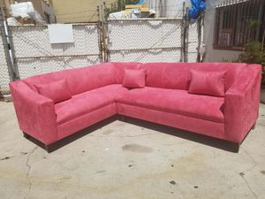 NEW 7X9FT PINK MICROFIBER SECTIONAL COUCHES for Sale in Barstow, CA