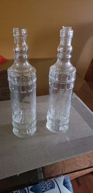 Glass decor bottles for Sale in Germantown, MD