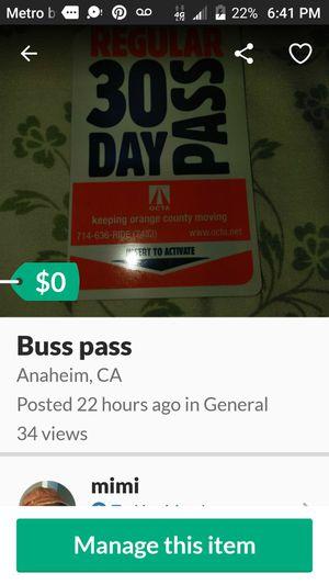 Buss pass for Sale in Garden Grove, CA