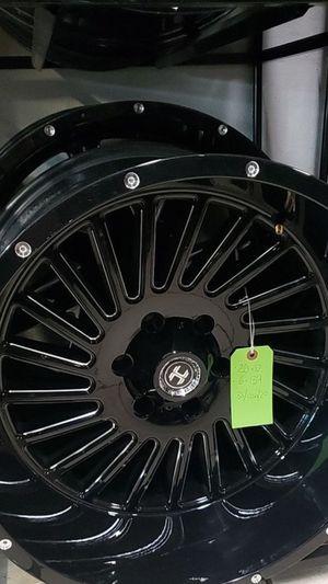 20x12 black hardcore rims 6 lug 6x139 6x5.5 on new mud tires 33 1250 20 lt for Sale in Phoenix, AZ