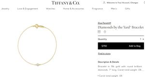 New Tiffany Gold Bracelet for Sale in San Diego, CA