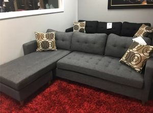 Brand New Grey Linen Sectional Sofa Couch for Sale in Kensington, MD