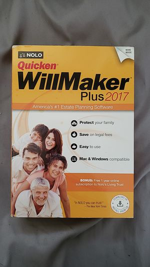 Quicken will maker for Sale in Seekonk, MA