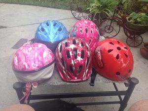 Kids Bike Helmets your Choice $10 each for Sale in Tampa, FL