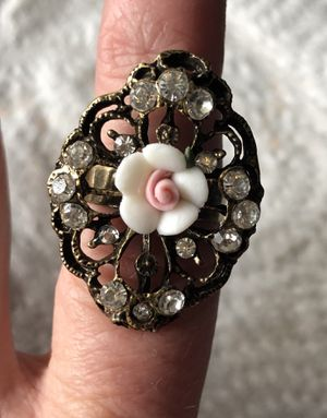 Victorian Rose Ceramic Ring for Sale in Parkville, MD