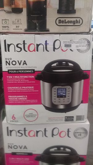 Instant Pot Duo Nova 6 Quart 7-in-1 One-Touch Multi-Use Programmable Pressure Cooker for Sale in Phoenix, AZ