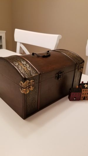"""Decorative box 7""""H x 13""""W x 9""""D new! (*not included miniatures) for Sale in Tacoma, WA"""