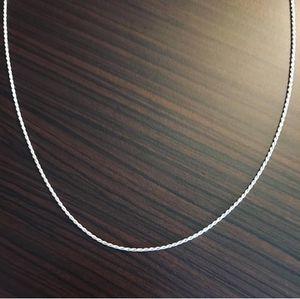 DeMarcus Alexan Twist Silver Necklace for Sale in Washington, DC