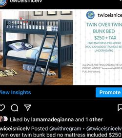 Bunk Bed New In Box Twin over Town for Sale in Henderson,  NV