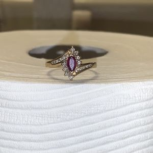 Solid 10K Ruby And Diamond Ring for Sale in Tempe, AZ