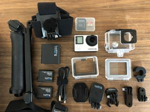 GoPro Hero 4 Silver edition, w/ 32gb SD card, accessories and cases for Sale in Portland, OR